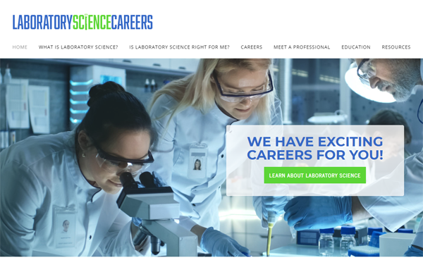 laboratory science careers website home page