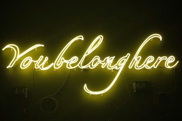 You belong here neon sign