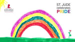 St. Jude Children's Research Hospital LGBTQ Pride Month virtual background
